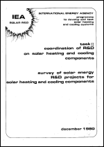 Survey of Solar Energy R&D Projects for Solar Heating and Cooling Components