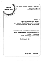 Survey of Commercialization and Operating Expereince of Solar Heating and Cooling Systems