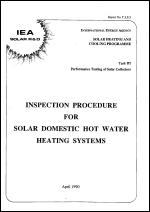 Inspection Procedure for Solar Domestic Hot Water Heating Systems